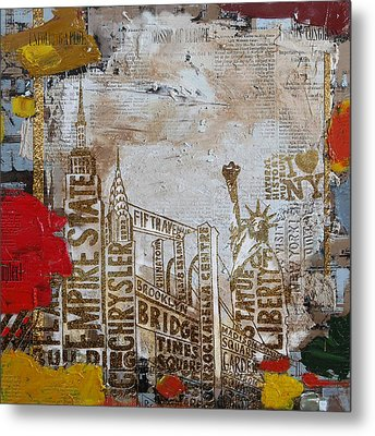 Ny City Collage 7 Metal Print by Corporate Art Task Force