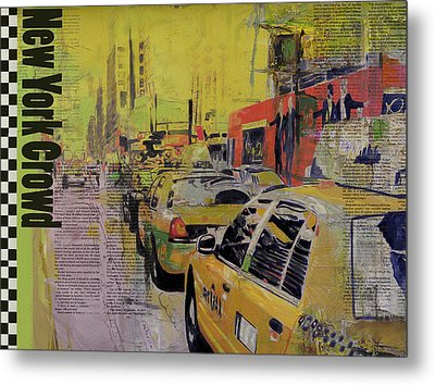 Ny City Collage Metal Print by Corporate Art Task Force