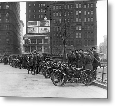 Ny Motorcycle Police Metal Print