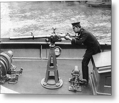 Ny Police Boat Patrol Metal Print