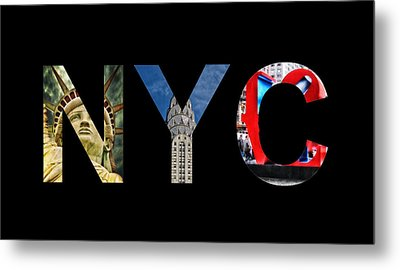 Nyc  Metal Print by Celestial Images