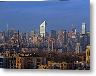 Nyc Citicorp Center And Queensboro Bridge Metal Print by Juergen Roth