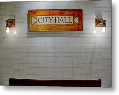 Nyc City Hall Subway Station Metal Print by Susan Candelario