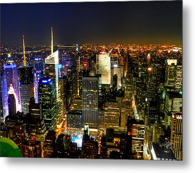 Nyc - From The Empire State Building 001 Metal Print by Lance Vaughn