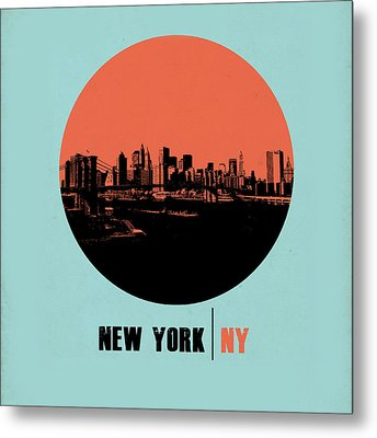 Nyc Gallery Cover Metal Print by Naxart Studio