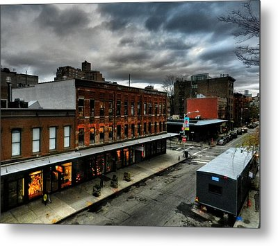 Nyc - High Line - Meatpacking District 004 Metal Print by Lance Vaughn