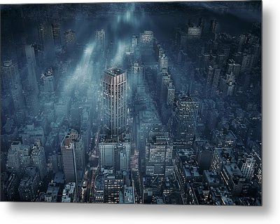Nyc Metal Print by Leif L?ndal