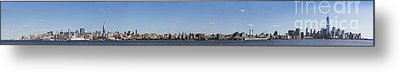 Nyc Panoramic Metal Print by Tony Cordoza