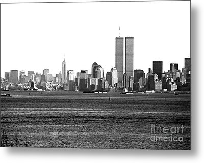 Nyc Skyline 1990s Metal Print by John Rizzuto