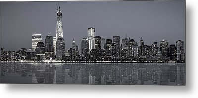 Nyc Skyline Metal Print by Eduard Moldoveanu