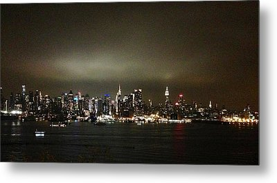 Nyc Skyline Metal Print by Roque Rodriguez