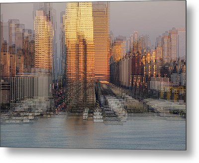 Nyc Skyline Shapes Metal Print by Susan Candelario