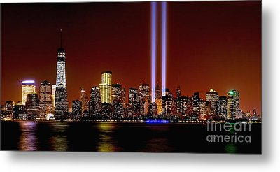 Nyc Tribute In Light 2013 Metal Print by Nick Zelinsky