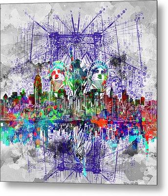 Nyc Tribute Skyline 4 Metal Print by Bekim Art