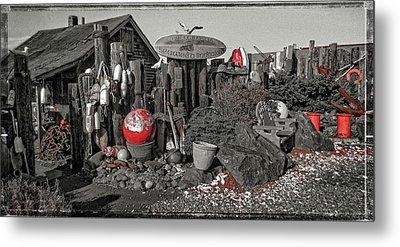 Nye Beach Bums Seaweed Bungalows Metal Print by Thom Zehrfeld