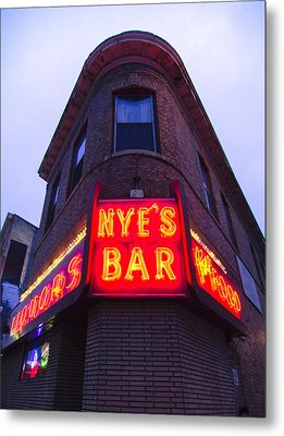 Nye's Bar By Day Metal Print by Heidi Hermes