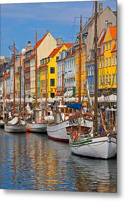 Nyhavn Sailboats Metal Print