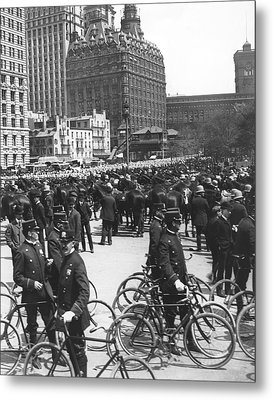 Nypd Bicycle Force Metal Print