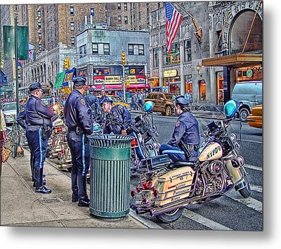 Nypd Highway Patrol Metal Print by Ron Shoshani