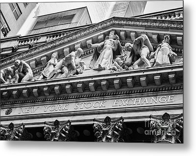 Nyse Metal Print by Jerry Fornarotto