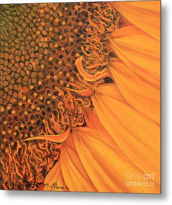 O Sunflower Metal Print by Jeanette French