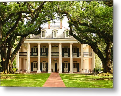 Oak Alley Mansion Metal Print by Photography  By Sai