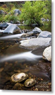 Oak Creek Flowing Metal Print