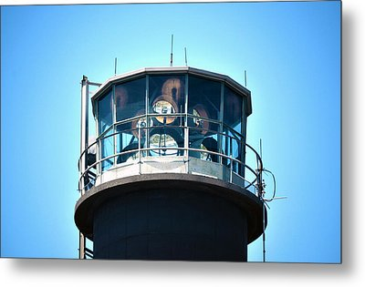 Oak Island Lighthouse Beacon Lights Metal Print by Sandi OReilly