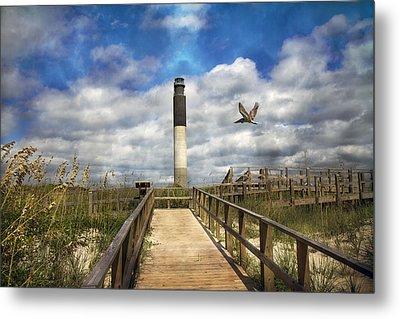 Oak Island Lighthouse Metal Print by Betsy Knapp