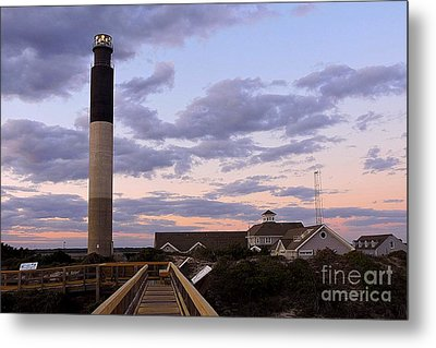 Oak Island Lighthouse From Caswell Metal Print