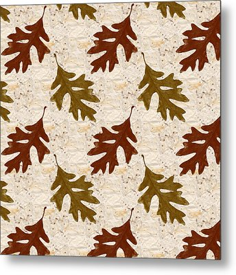 Oak Leaf Pattern Metal Print by Christina Rollo