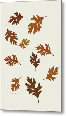Oak Leaves Art Metal Print