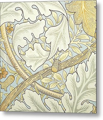 Oak Leaves Metal Print by William Morris