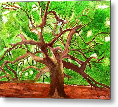 Metal Print featuring the painting Oak Tree by Magdalena Frohnsdorff