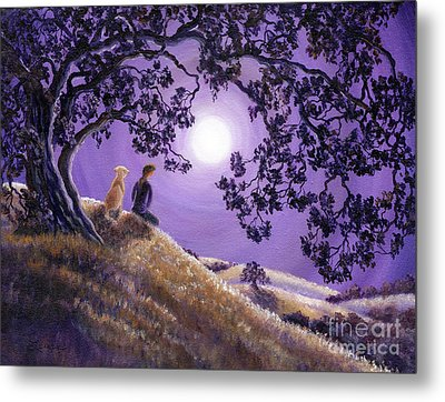 Oak Tree Meditation Metal Print by Laura Iverson