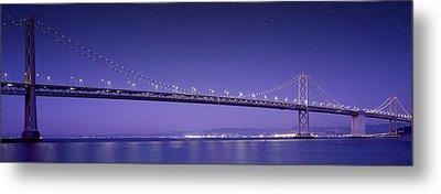 Oakland Bay Bridge Metal Print by Aged Pixel