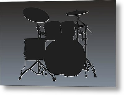 Oakland Raiders Drum Set Metal Print by Joe Hamilton