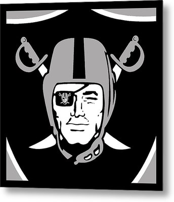 Oakland Raiders Metal Print by Tony Rubino