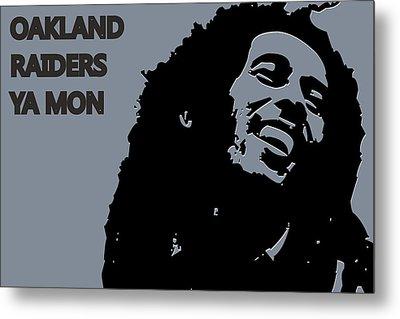 Oakland Raiders Ya Mon Metal Print by Joe Hamilton