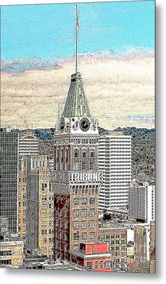 Oakland Tribune Building Oakland California 20130426 Metal Print by Wingsdomain Art and Photography