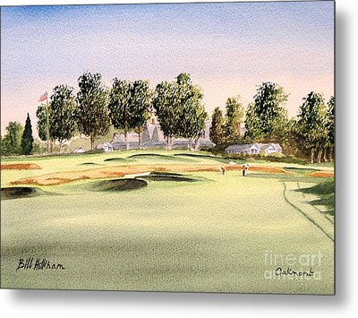 Metal Print featuring the painting Oakmont Golf Course 14th by Bill Holkham