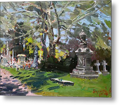 Oakwood Cemetery Metal Print by Ylli Haruni