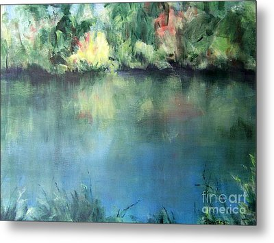 Metal Print featuring the painting Oasis by Mary Lynne Powers