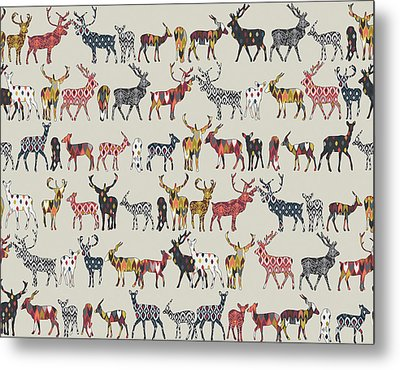 Oatmeal Spice Deer Metal Print