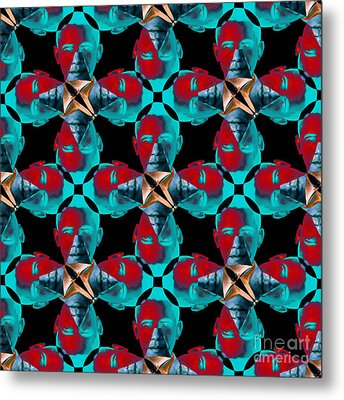 Obama Abstract 20130202m180 Metal Print by Wingsdomain Art and Photography