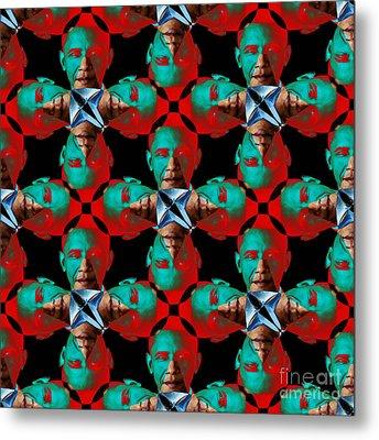 Obama Abstract 20130202p0 Metal Print