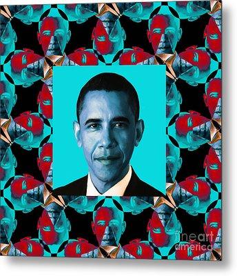 Obama Abstract Window 20130202m180 Metal Print