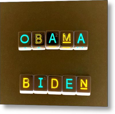 Obama Biden Words. Metal Print by Oscar Williams