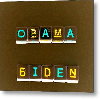 Obama Biden Words. Metal Print