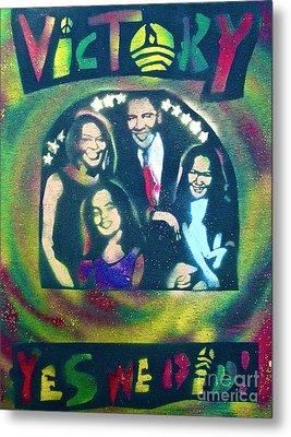 Obama Family Victory Metal Print